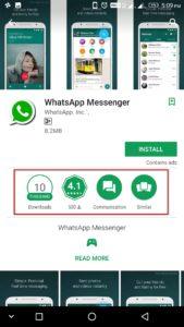fake whatsapp app