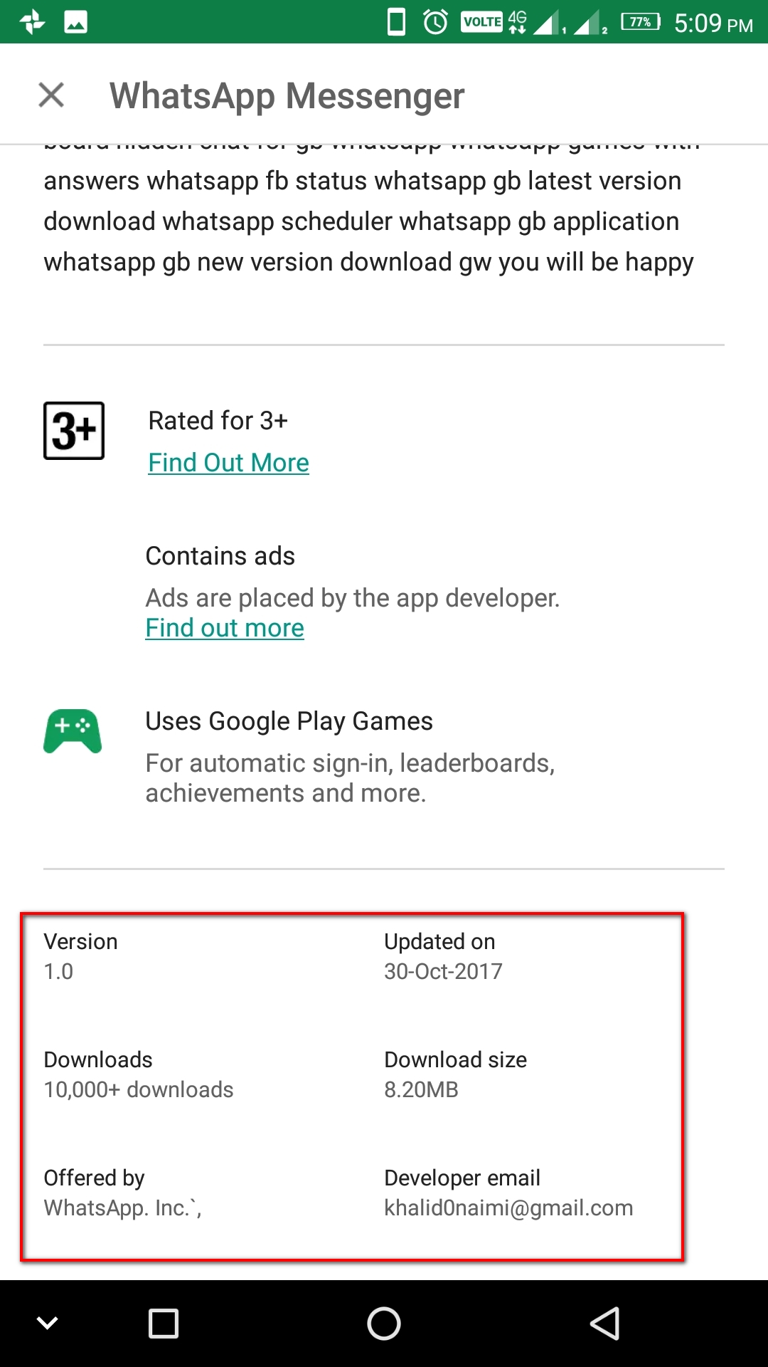 Fake Whatsapp Apps on google play, Users be aware , be safe - Wikizest